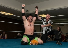 "The NCW 2013 Big City Rumble winner ""RIOT"" Kellan Thomas."