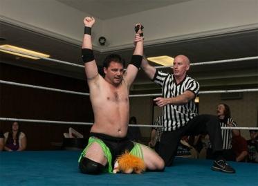 "The NCW 2013 Big City Rumble winner ""RIOT"" Kellan Thomas."