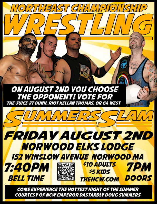 PRESS RELEASE: SummersSlam Comes to Norwood August 2!