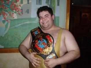 """""""The Portuguese Sensation"""" after winning his 2nd NCW title in 2006"""