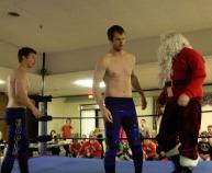 Santa and his helpers David & Eddie!