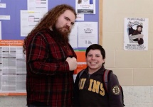 Jake alongside the Pembroke High Junior Class President MJ Baird