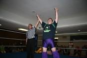 "Steve ""The Turtle"" Weiner stands victorious over El Saguaro."