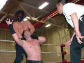 """The Monster"" Cenobite chokes out Rob Impact during their Non Sanctioned Match in the night's Main Event."