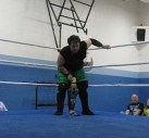 NCW New England Champion Richard Pacifico preparing for his match with Perry Von Vicious.