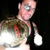 """RIOT"" Kellan Thomas with the new NCW Championship belt"