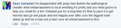 An irate longtime NCW fan via the NCW Facebook