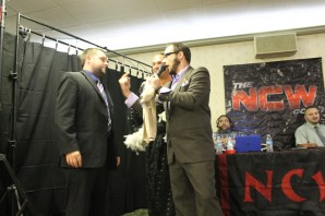 Rich Bass talking down to an NCW announcer.