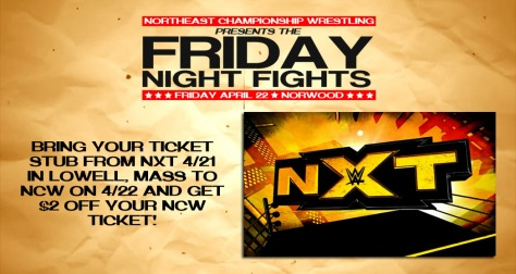 FRIDAY NIGHT FIGHTS OFFER